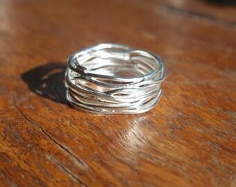 Bird's Nest Silver Ring