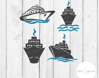 Cruise Ship SVG - Cruise Ship SVG Bundle - Ship SVG - Cruise Svg - Boat Svg - Ship Svg - Ship Bundle - Ship Cut Files - Cruise Cut Files