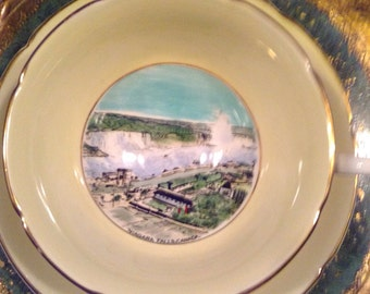 Royal Grafton Fine Bone China Niagra Falls Canada Tea Cup