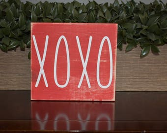XOXO Mini Wooden Sign