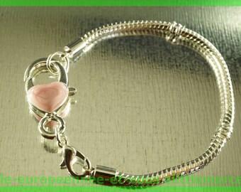 No. 15-17 cm charms silver plated European Bead Bracelet