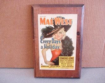 Vintage PARAMOUNT PICTURE Mae West  Every Day A Holiday Print.