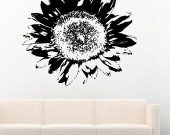 Sunflower Flowers Vinyl Wall Decals Decors Removable Stickers Murals MK1393