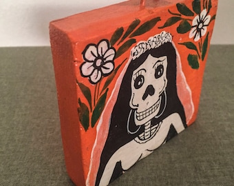 Dia De Los Muertos Hand Painted Wall Decoration