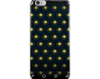 Yellow Sunflower Lights iPhone Case