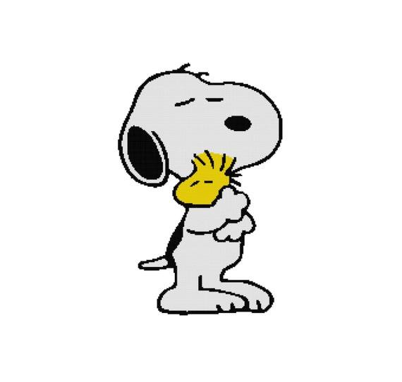 Cross Stitch Pattern PDF: Snoopy and Woodstock Peanuts