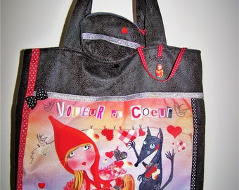 """Original bag """"Thief of hearts"""" with its matching coin purse"""