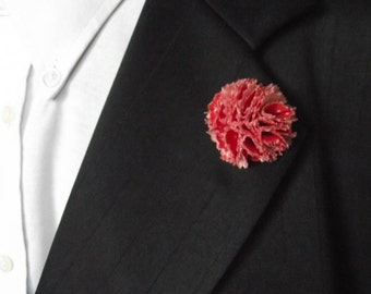 Mens Lapel Flower.  Lapel Flower.  Flower Lapel Pin.  Wedding Lapel Flower Pin  Lapel Pin