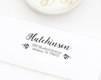 Return Address Stamp, Self-Inking Address Stamp, Custom Address Stamp, Personalized Address Stamp, Wedding Stamp, Stamp Style No. 77