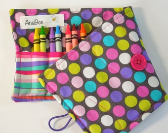 Crayon Roll - Diddly Dot, Crayon Holder, Roll-up case