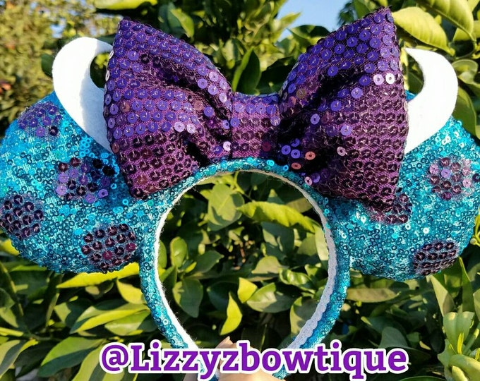 Monsters Inc Sulley Sequin Minnie ears