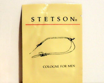Vintage 1980s Stetson by Coty Cologne Towelette Sample Packet