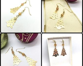 Christmas Tree Dangles - Gold