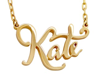 Personalized Name Necklace Gold, Personalized Jewelry 14k, Name Necklace In Rose Gold, White Gold, Yellow Gold, High Quality Jewelry gift