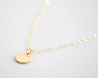 ARIES Necklace / Zodiac Charm Necklace- Hand stamped- 14k gold filled, Sterling Silver