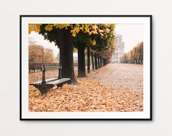 Paris Photography, Paris Print, Paris Bedroom Decor, Home Decor, Autumn in Paris, Paris Images, Paris Photos, Paris Wall Art, Louvre Photo