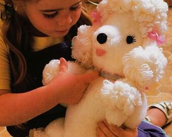 Poodle Sewing Pattern ... Soft Toy Pattern ... PDF Sewing Pattern ... Cuddly Poodle Dog ... Digital Download ... Stuffed Toy