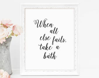 Bath Sign, Relax Soak Unwind, Relax Sign, Bathroom Sign, Bathroom Quotes Wall Art, Print Wall Decor, Wall Decor, Print, Printable Art, Spa