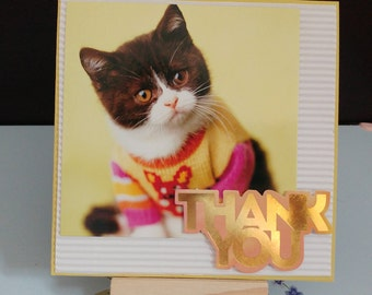 Cat Thank you card | Friend | Love | Special card