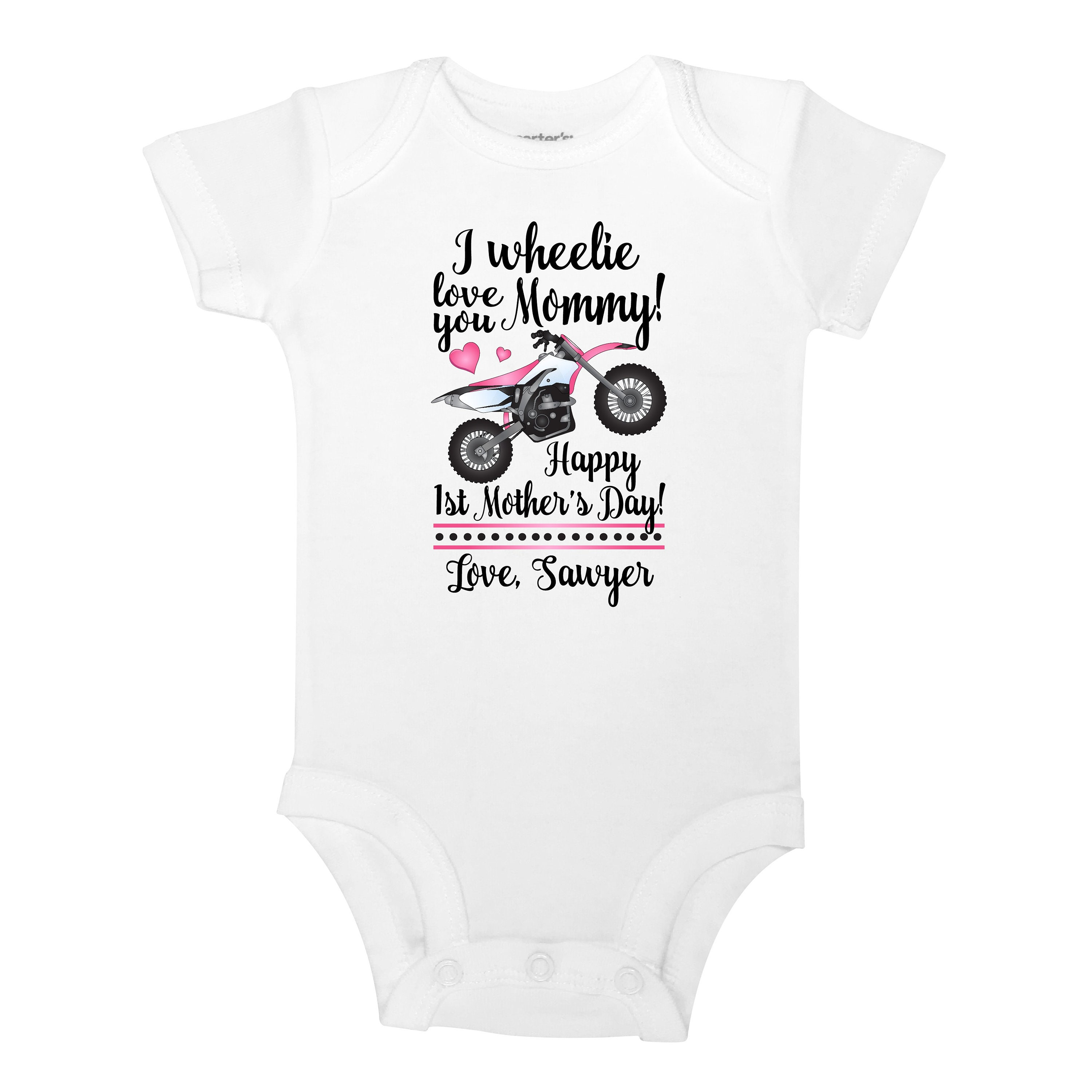 Personalize The Name I Wheelie Love You Mommy 1st