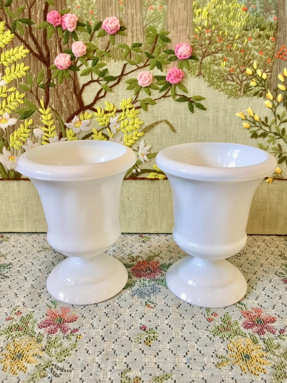 Milk Glass Vase Milk Glass Urn Wedding Vases Party Centerpiece