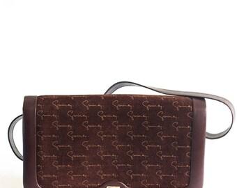 Vintage Givenchy brown daim handbag