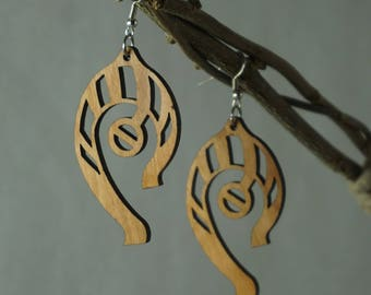 Wooden Earrings - Abstract
