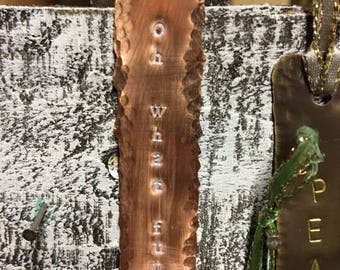 Metal Stamped Christmas Ornament - Copper