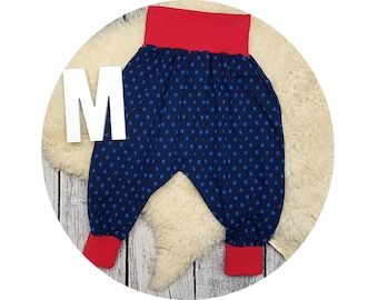 Baby pants, baby, pants, Jersey pants, Mitwachsen trousers, harem trousers, harem pants, points, maritim, polka dots, marine