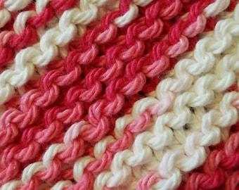 Handmade Knitted Dishcloth - Azalea