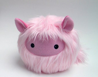Stuffed Toy, Pink Furry Monster Plush Toy Animal - Isabelle by Stuffed Silly