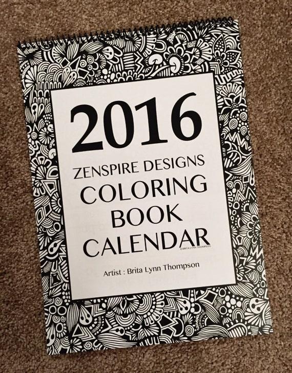 Zentangle - 2016 Calendar Coloring Book Version