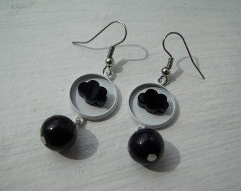 Black cloud earrings