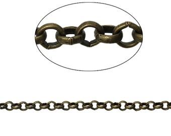 5 m chain round Bronze 3.5 mm - SC74857.