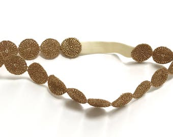 The Madison Lace Crown- Bronze