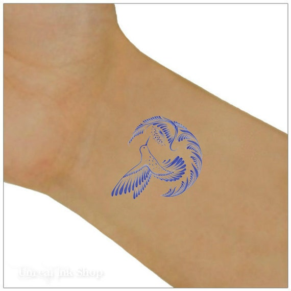 hummingbird temporary tattoo 2 wrist tattoos. Black Bedroom Furniture Sets. Home Design Ideas