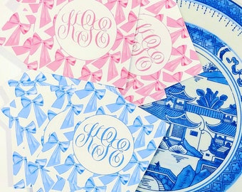 Monogram Bow Gift Tags