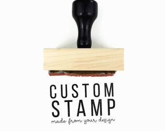 "Custom 1.5"" x 2.5"" Rubber Stamp 