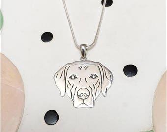 Labrador Retriever Sterling Silver Charm Necklace