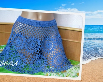 Lace skirt Exclusive Knitted Skirt Knitted female skirt The skirt is crocheted Beach knitted skirt Charming thing for you Fashion skirt