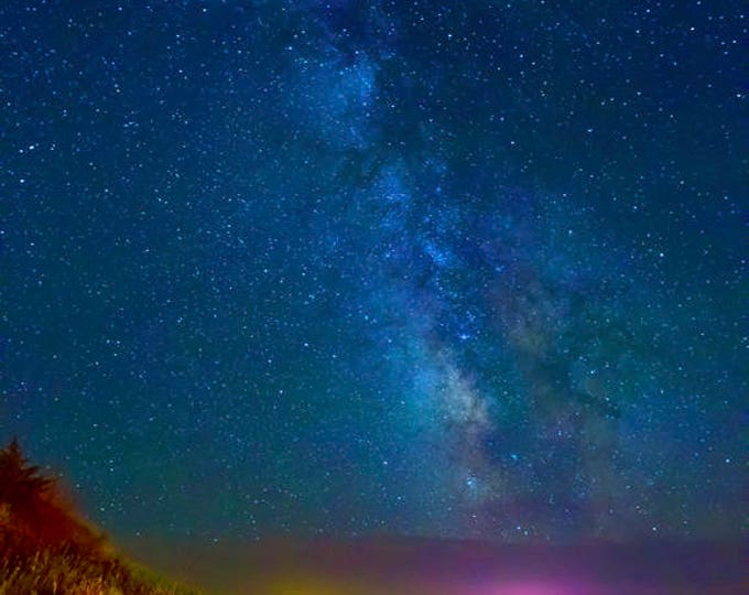 Milky Way Photo Night star Scenery Christmas gift Metal Print Missouri River Photo South Dakota Night Sky Star photography Nicole Heitzman