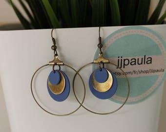 circles Blandine blue and bronze