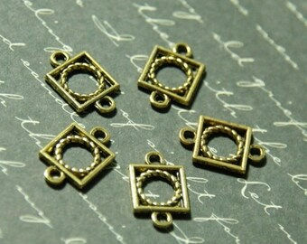 5 mini square goldtone 9x19mm connectors