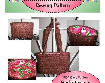 PDF Easy to Sew Basketweave Purse Pattern