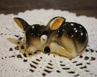 Rare and Charming Vintage Fawn, Deer Salt Shaker. Japan.