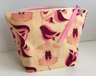 Bird cage knitting project bag small