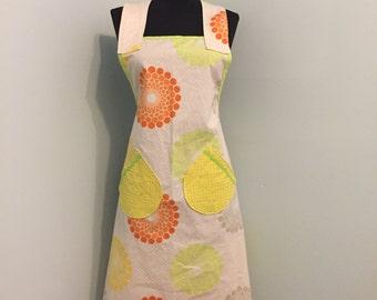 Schürze - 100 % Baumwoll-Schürze für Frauen - eine Größe passt den meisten - Küche Hostess - Citrus - frei von uns Versand