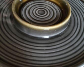 Gorgeous Vintage Casserole Dish Green / Grey colour