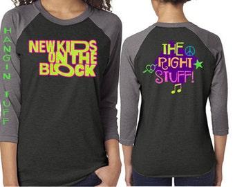Glitter Baseball New Kids on the Block Shirt|Customized NKOTB  Shirt