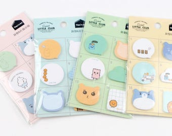 Sticky notes animals. post its, cat memo pads, memo pads, stationary, cat gift, cat kawaii, planner tabs, note pad, cate note pad, cat lady